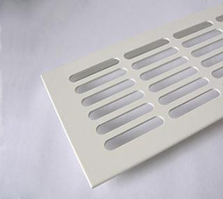Fehér színű alumínium szellőzőrács