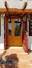 Szigetbecsei nyaralóban fa külső-belső ajtó csere